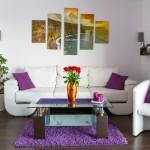 Die Wände im Wohnzimer gestalten