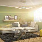 Grüne Wände - perfekt für Interieurs im Frühling