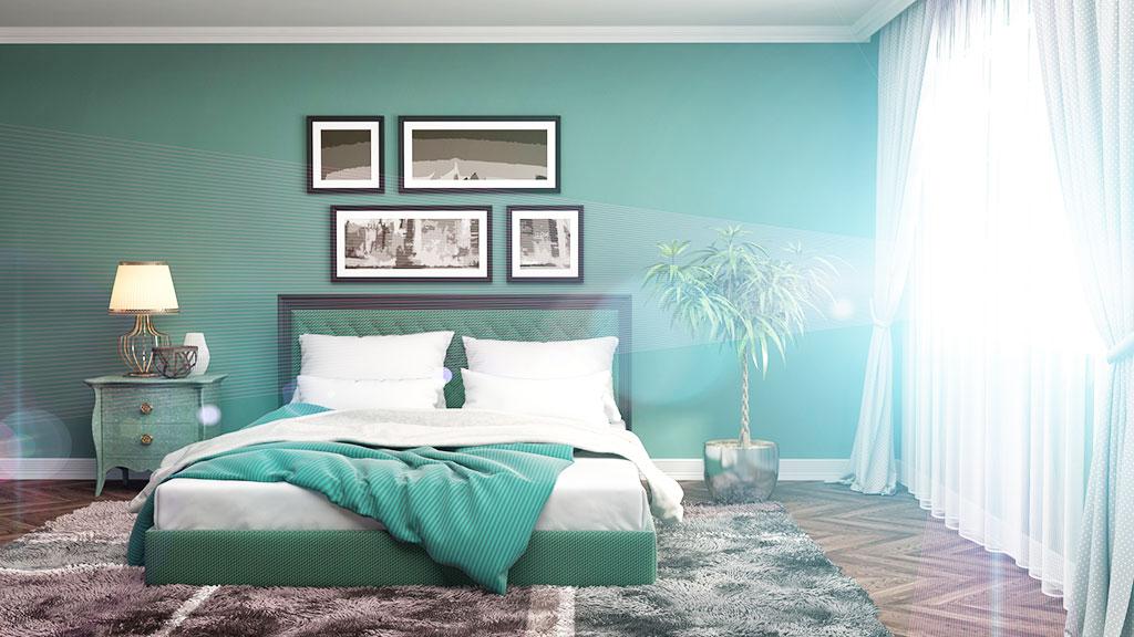 Passende Wandfarbe im Schlafzimmer - Tipps und Trends - Rundumdiewand.de